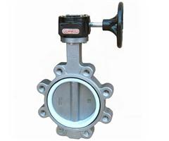 DIN DI worm gear lug wafer butterfly valve