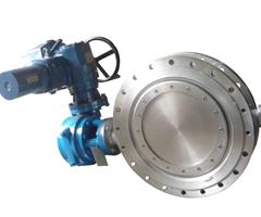 Electric actuator flange butterfly valve